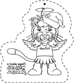 hillcub angel tree ornament